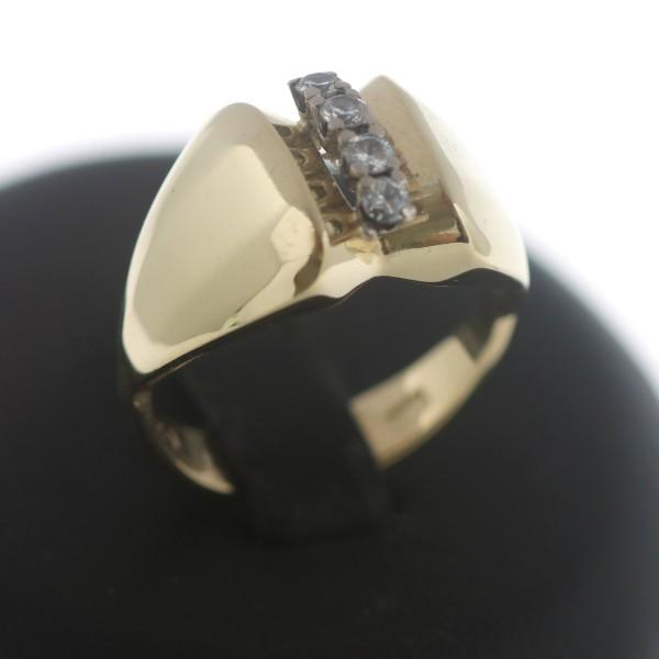Diamant Brillant Ring 585 Gold 14 Kt Gelbgold 0,21 CT Wert 1280,-