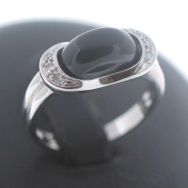 Diamant Onyx Ring 585 Gold 14 Karat Weißgold Wert 750 Euro