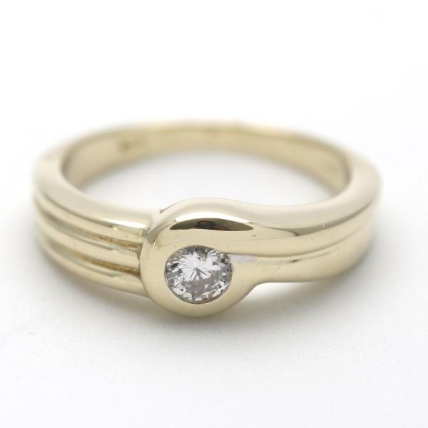 Solitär Diamant Ring 585 Gold 0,25 Ct Brillant 14 Kt Gelbgold Wert 1490,-