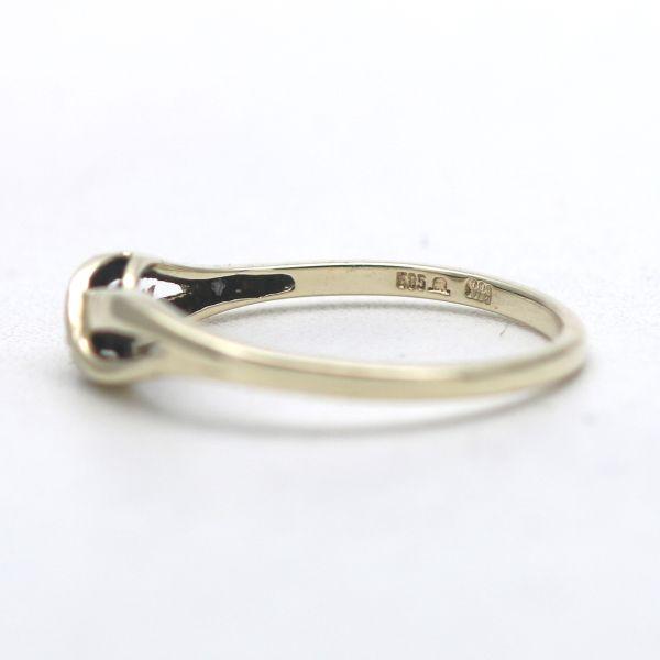 Solitär Smaragd Ring 585 Gold 14 Kt Bicolor Edelstein Wert 280,-