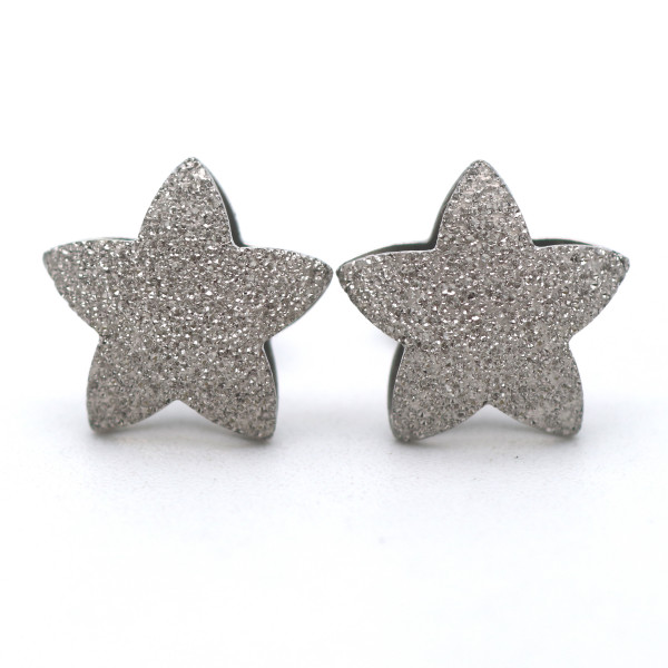 Ohrstecker Ohrringe Ohrschmuck 585 Gold 14 Kt Weißgold Stern Wert 420,-