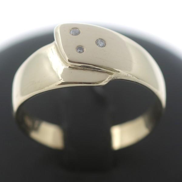 Diamant Ring 585 Gold 14 Kt Gelbgold Brillant Wert 950,-