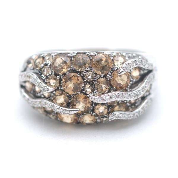 Diamant Citrin Ring 585 Gold 14 Kt Weißgold Wert 1100,-