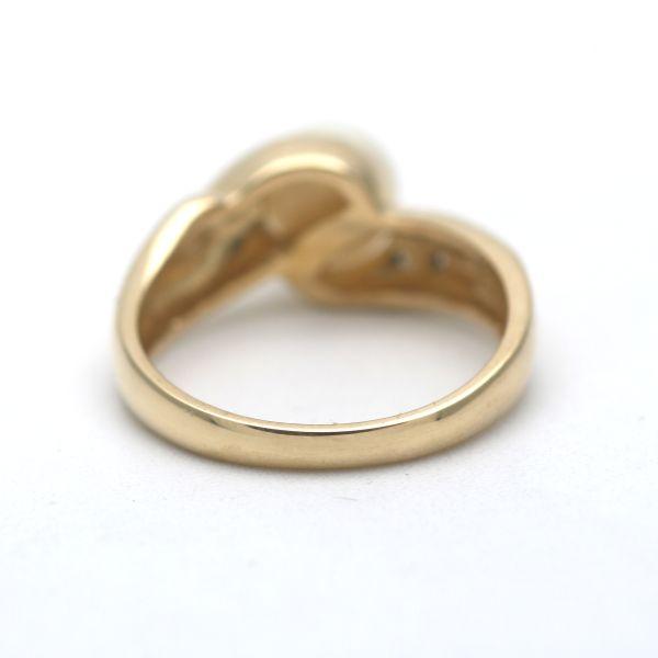 Diamant Vintage Ring 585 Gold 0,15 Ct Brillant 14 Kt tricolor Wert 850,-