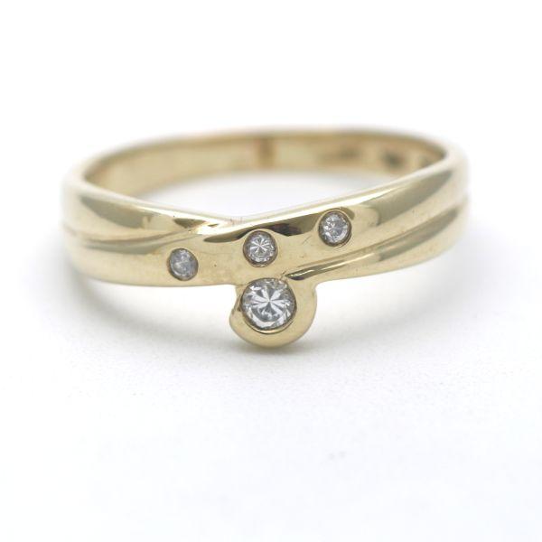 Christ Solitär Ohrstecker Brillant 585 Gold 14 Kt Diamant 0.10 Ct Gelbgold