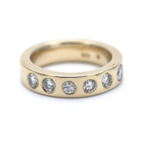 Memory Diamant Ring 585 Gold 14 Kt Gelbgold 1,10 Ct Brillant Sonderpreis Wert 4900,-