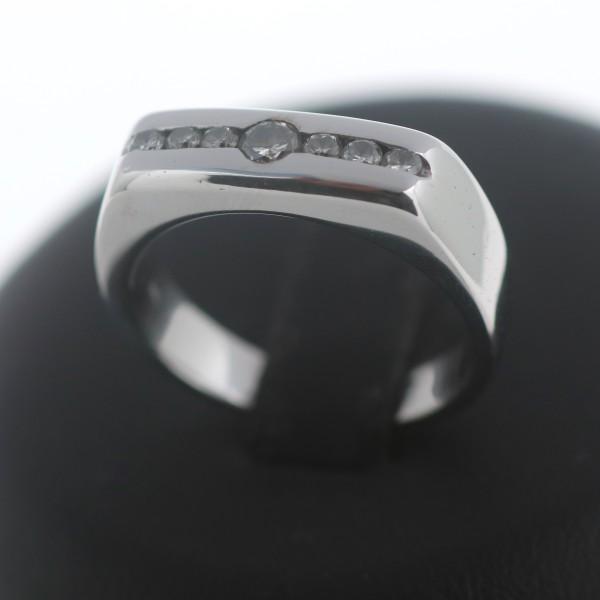 Modischer Ring 585 Weißgold Brillant 14 Kt Gold Diamant Wert 1650,-