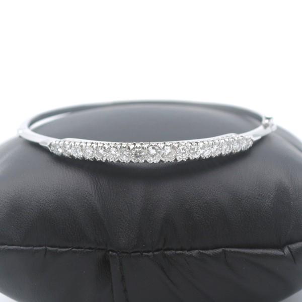 Armreif 3,00 Ct Brillant 750 Weißgold 18 Kt Armband Lupenrein / G Wert 9900,-