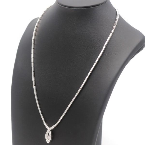 Diamant Brillant Collier Kette 585 Gold 14 Kt Weißgold massiv 0,35 Ct Wert 2400