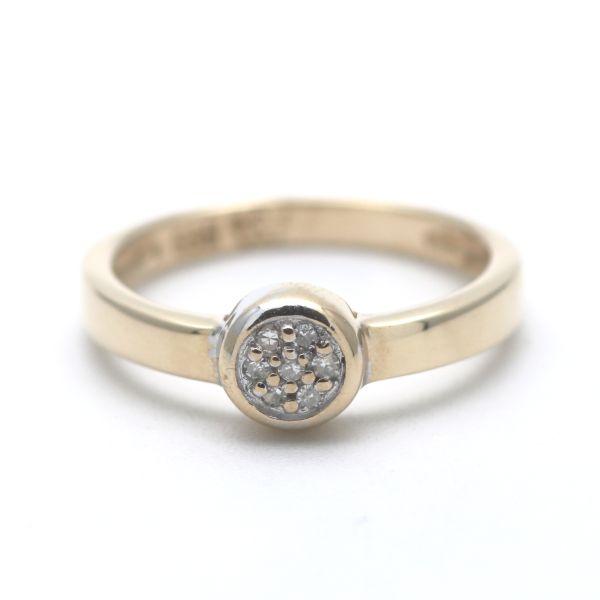 Brillant Ring 585 Gold Diamant 14 Kt Gelbgold modern Wert 380,-