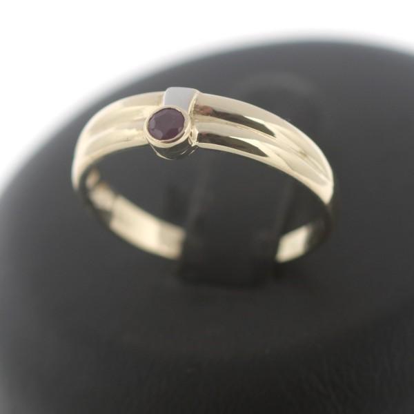 Ring 333 Gold Rubin 8 Kt Gelbgold Edelstein Wert 150,-