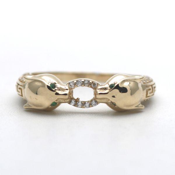 333 Gold Diamant Saphir Ring 8 Kt Bicolor Wert 300,-