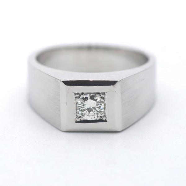 Solitär Ring 585 Gold Brillant 14 Kt Weißgold 0,30 Ct Diamant Wert 2340,-