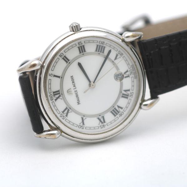 Maurice Lacroix Damen Uhr AB48019 Stahl Quartz Designer