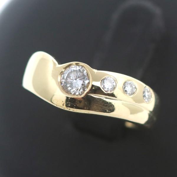 Diamant Ring 585 Gold 14 Kt Gelbgold 0,50 Ct Brillant Stark reduziert Wert 1800
