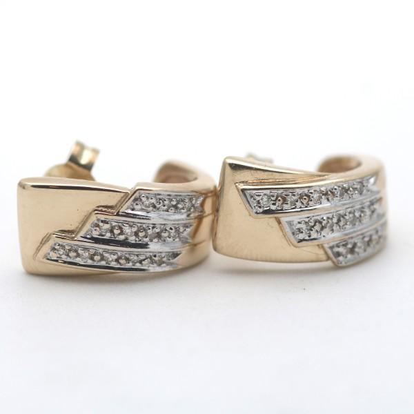 Diamant Ohrringe 416 Gold Ohrstecker Diamant 10 kt 0,50 Ct Bicolor Wert 1100,-