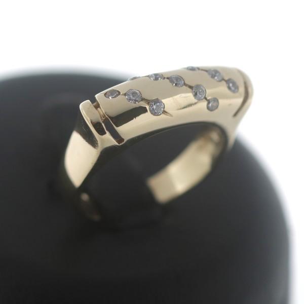 Modischer Ring 585 Gold 14 Kt Gelbgold Zirkonia Wert 560,-