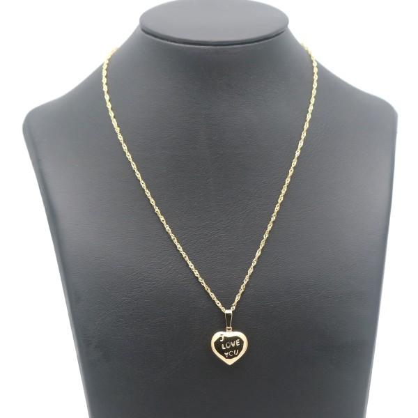 Herz Anhänger Kette 375 Gold 9 Kt Gelbgold Love Liebe Wert 299,-