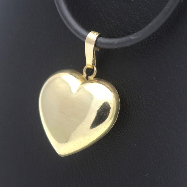 Herz Anhänger 333 Gold Liebe Love Geschenk 8 Karat Gelbgold