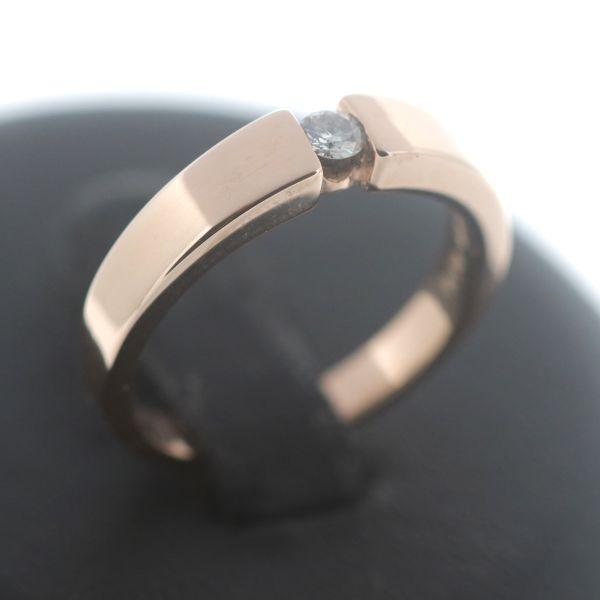 Christ Solitär Brillant Ring 585 Gold Diamant 14 Kt Rosegold 0,10 Carat