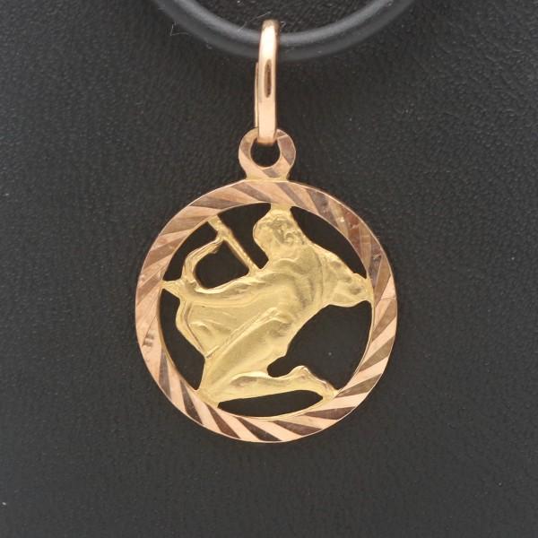 Sternzeichen Anhänger 333 Gold Schütze 8 Karat Bicolor 210,-