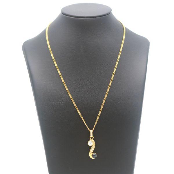 Handarbeit Diamant Anhänger Kette 585 Gelbgold 14 Kt 0,72 CT Brilliant Wert 3100,-