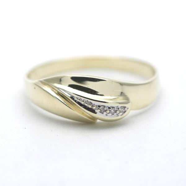 Diamant Ring 585 Gold 14 Kt Bicolor Wert 460,-