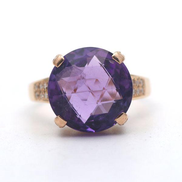 Ring 333 Gelbgold 8 Kt Gold Zirkonia 7,4 Gramm Wert 630,-