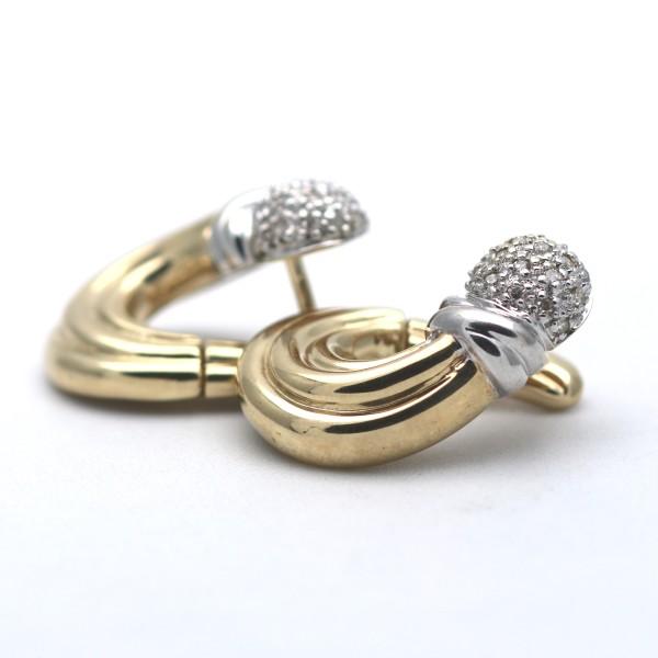 Diamant Ohrringe 585 Gold Ohrstecker 14 kt Bicolor Wert 1200,-