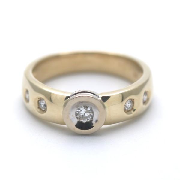 Diamant Ring 585 Gold 0,20 Ct Brillant 14 Kt Gelbgold Wert 690,-