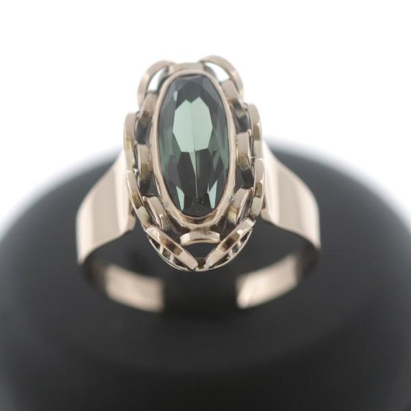 Ring 333 Gold Turmalin 8 Karat Gelbgold Wert 520,-