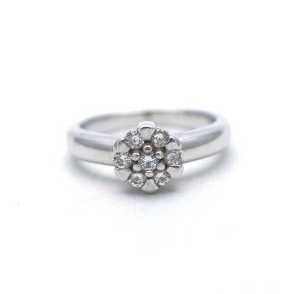 Christ Brillant Ring 585 Gold 0,30 Ct Diamant 14 Kt Weißgold Wert 899,-
