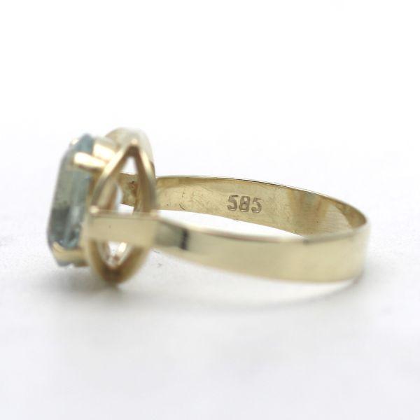 Stillvoller Ring 333 Gold 8 Karat Gelbgold Diamant Wert 240,-