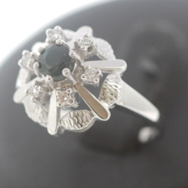 Brillant Saphir Ring 585 Gold Diamant 14 Kt Weißgold Wert 670,-